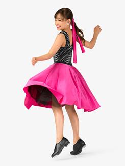 Girls Vintage Three-Tone Dance Costume Dress