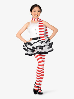 Girls Frosty Striped Character Dance Costume Set