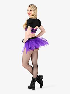 Womens 2-Piece Dance Costume Top & Brief Set