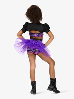 Girls 2-Piece Dance Costume Top & Brief Set