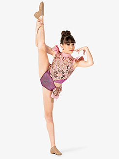 Girls Performance Sequin & Metallic Leotard