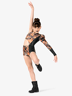 Girls Performance One Sleeve Shorty Unitard