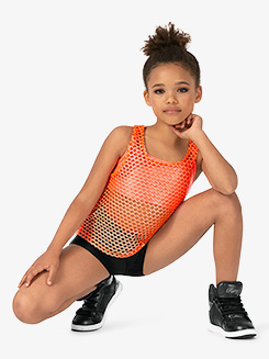 Girls Performance Blaze Big Hole Mesh Tank Top