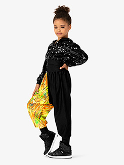Girls Performance Blaze Contrast Print Jogger Pants