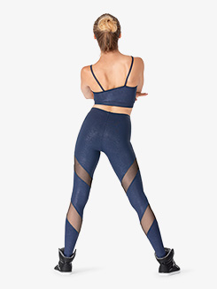 Womens Performance Hustle Mesh Panel Leggings