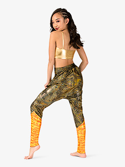 Womens Performance Blast Metallic Harem Pants