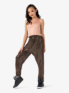 Womens Performance Swag Metallic Jogger Pants