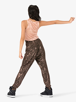 Child Unisex Performance Swag Metallic Squares Sweat Pants