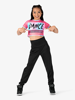Girls Performance Beats Dance Logo Short Sleeve Crop Top