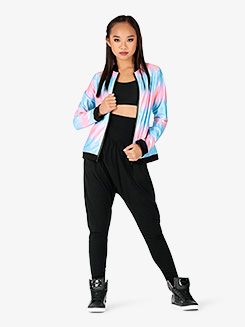 Womens Performance Beats Pastel Zip Up Jacket
