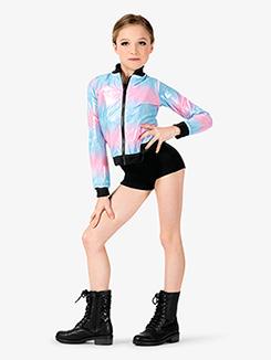 Girls Performance Beats Pastel Zip Up Jacket