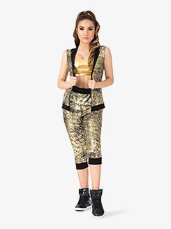 Womens Performance Flexx Metallic Sweat Pants