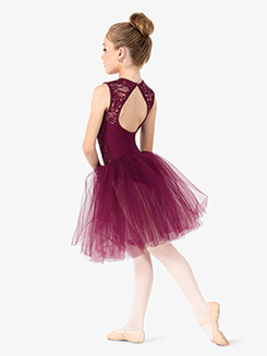 Girls Performance Lace Tank Tutu Dress