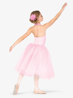 Womens Performance Halter Romantic Tutu Dress