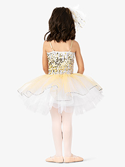 Girls Performance Two-Tone Sequin Tutu Dress