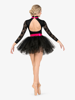 Womens Performance Floral Lace Tutu Dress