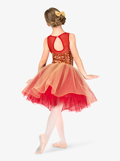 Girls Performance Sequin Bodice Tank Tutu Dress