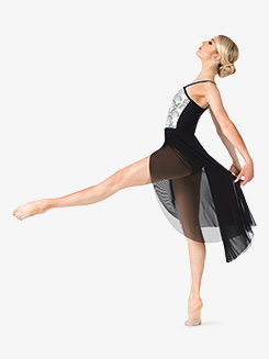Womens Performance Asymmetrical Two-Tone Dress