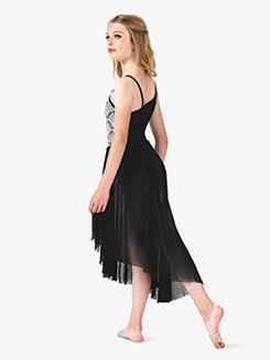 Girls Performance Asymmetrical Two-Tone Dress