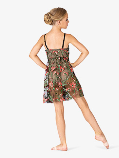 Girls Performance Floral Mesh Camisole Dress