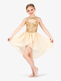 Girls Performance 3D Floral Tank Dress
