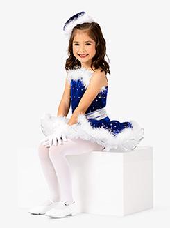 Girls Two-Tone Camisole Dance Costume Dress Set