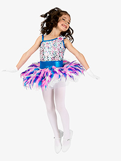 Girls Performance Pastel Sequin Tutu Dress