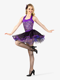 Womens Leotard & Skirt 3-Piece Dance Costume Set