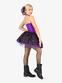 Girls Leotard & Skirt 3-Piece Dance Costume Set