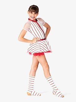 Girls Striped Character Dance Dress Set