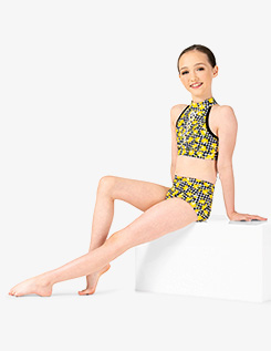 Girls Lemon Print Dance Briefs