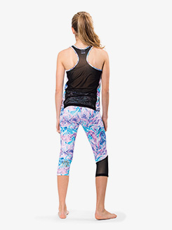 Girls Workout Cropped Leggings