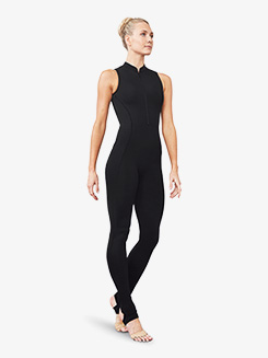 Womens Open Back Stirrup Tank Unitard