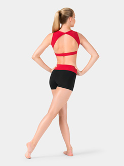 Adult Color Block Banded Dance Short