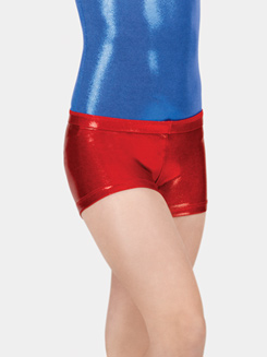 Adult Basic Metallic Dance Shorts