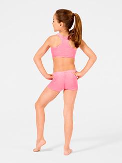 Child Stardust Velvet Gymnastic Racer Back Bra Top