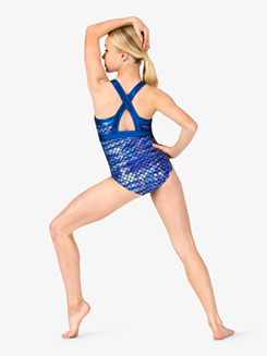 Girls Gymnastics Fish Scale Tank Leotard