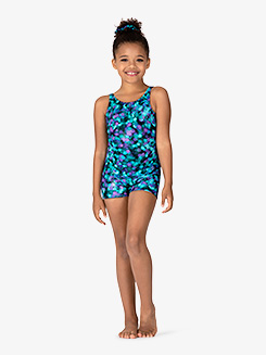 Girls Ink Spot Tank Shorty Unitard