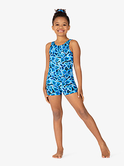 Girls Windmill Tank Shorty Unitard