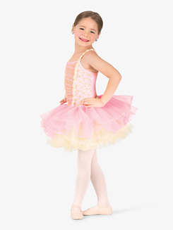 Girls Performance Pastel Camisole Tutu Dress