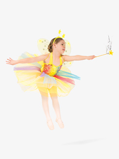 Girls Pastel Rainbow Sequin Character Dance Dress Set