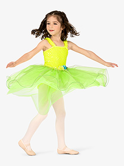 Girls Performance Ruffle Tank Romantic Tutu Dress