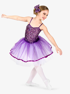 Girls Performance Multi-Colored Sequin Camisole Tutu Dress