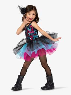 Girls Performance Sequin Bodice Camisole Tutu Dress