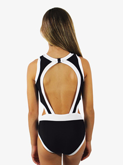 Girls Two-Tone Cutout Tank Leotard