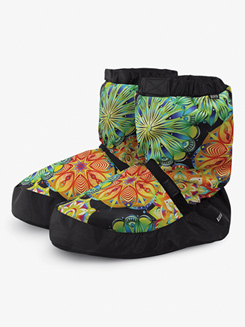 Adult Flower Print Warm-up Booties