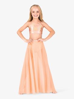 Girls Iridescent Performance Long Mesh Skirt