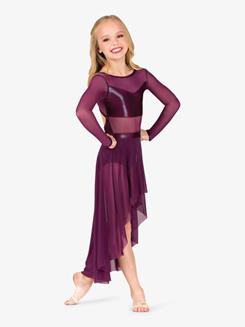 Womens Performance Long Sleeve Metallic Mesh Dress