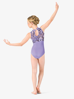 Girls Performance Lace Keyhole Tank Leotard