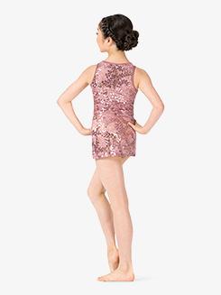 Girls Performance Sheer Lace Tank Dress